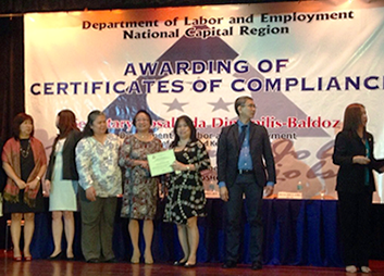 DOLE Awards GPPC with a Certificate of Compliance - On 18 Sep. 2014, the Department of Labor and Employment awarded Global Green Power PLC Corp. with a Certificate of Compliance on General Labor Standards and Occupational Safety and Health Standards, pursuant to Department Order No. 131, series of 2013
