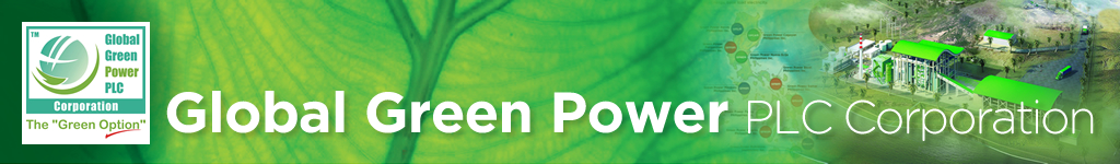 Global Green Power PLC Corporation is a Philippine Company that develops BIOMASS grid connected, decentralized, renewable energy power plants utilizing sustainable biomass resources such as agricultural crop and food processing wastes.